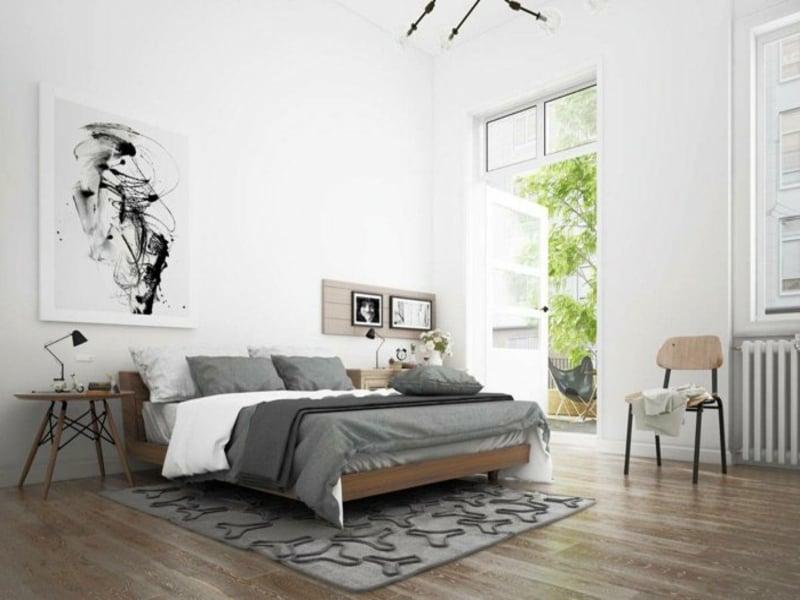 graues teppich im schlafzimmer