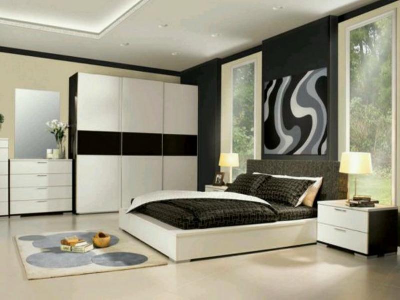 moderne schlafzimmergestaltung mit weßen schränken
