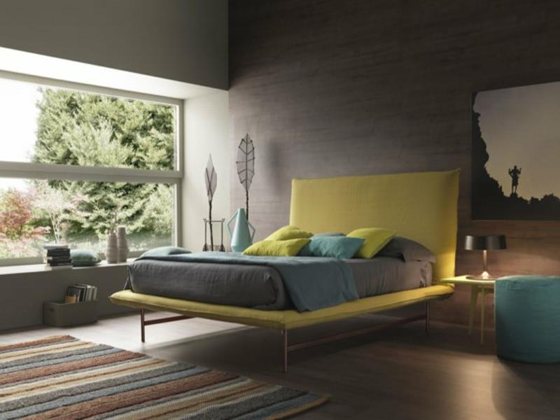 zen schlafzimmergestaltung und gelbe akzente