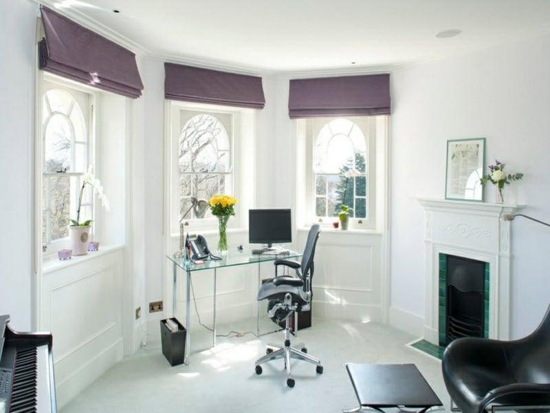 lila fenstervorh nge f r wohn und schlafzimmer innendesign zenideen. Black Bedroom Furniture Sets. Home Design Ideas