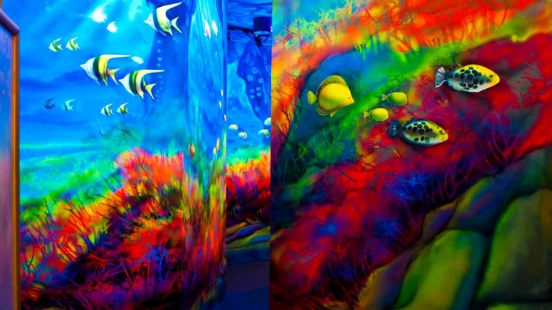 fluoreszierende Farbe