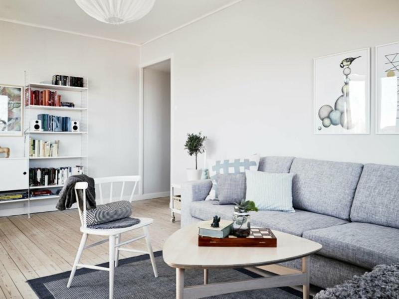 designer graues skandinavishes wohnzimmerteppich