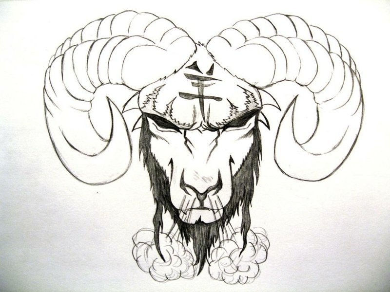 sternzeichen-tattoo-Black-Zodiac-Aries-Tattoo-Design