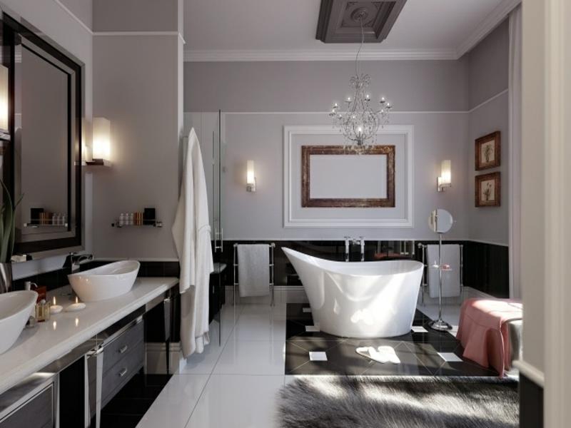 elegante stilvolle badezimerlampen