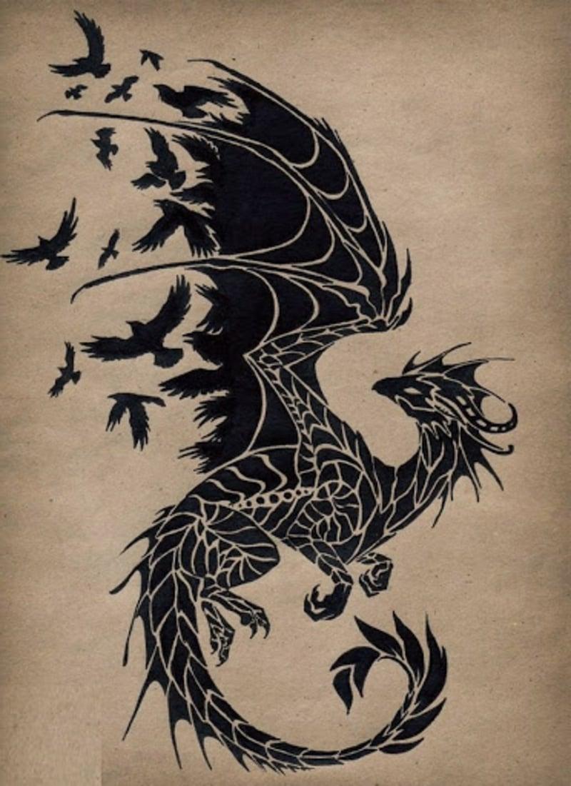 tattoo drache