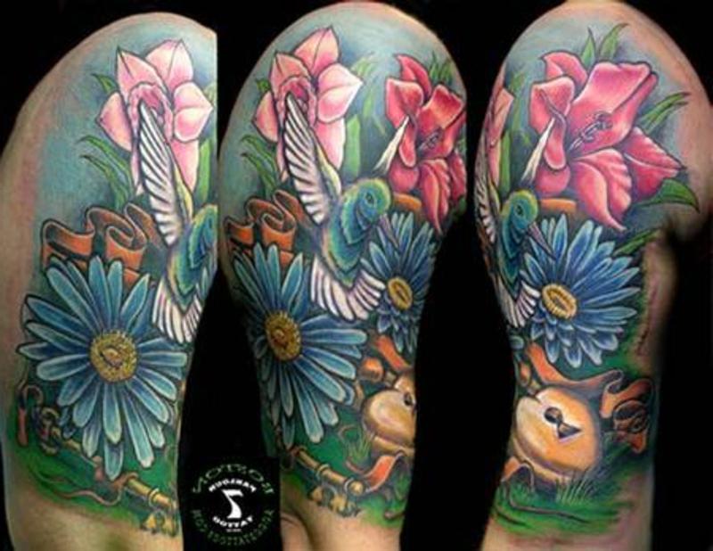 tattoo-kolibri-BostonR_Hummingbird_and_flowers