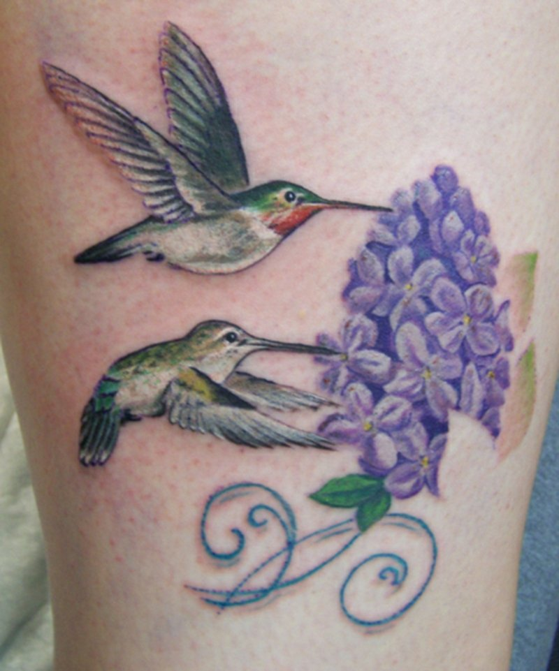 tattoo-kolibri-Female-hummingbird-tree-frog-tattoo-man