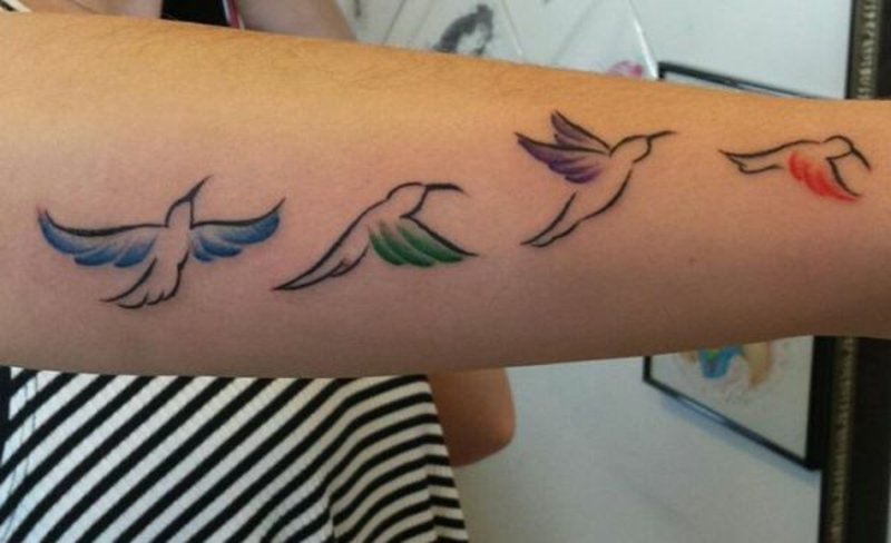 Wandbild kolibri und pictures to pin on pinterest tattooskid - Leuchtturm tattoo bedeutung ...