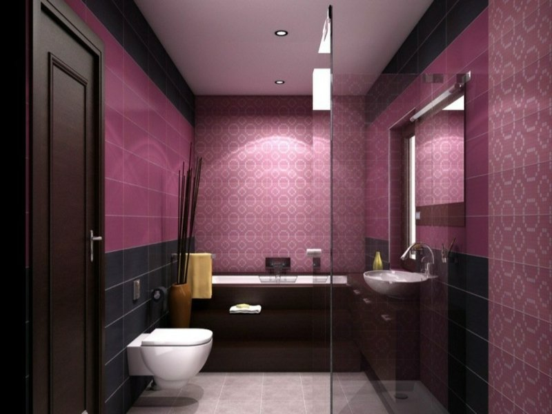 purpur farbe im traumbad