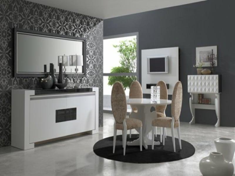 minimalistisches rundes wohnzmmerteppich