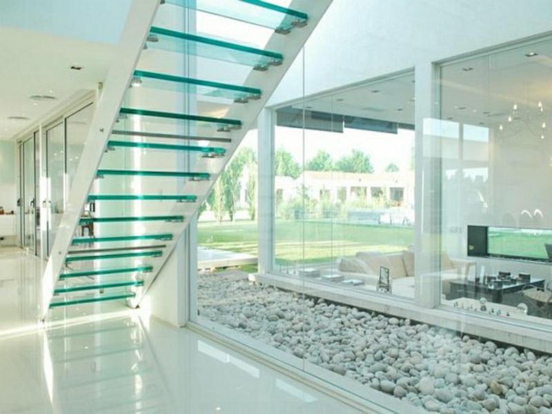 wunderschöne lichteffekte und moderne treppen