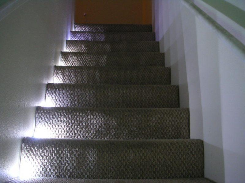 Treppenbeleuchtung Teppich