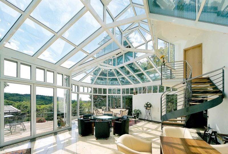 Glasdach Terrasse moderne Terrassengestaltung