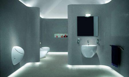 extremschöne ultramderne badbeleuchtung