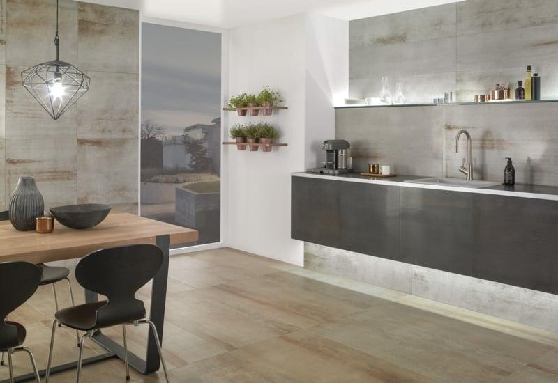 villeroy und boch fliesen Kollektion Metallic Illusion Küchenwand