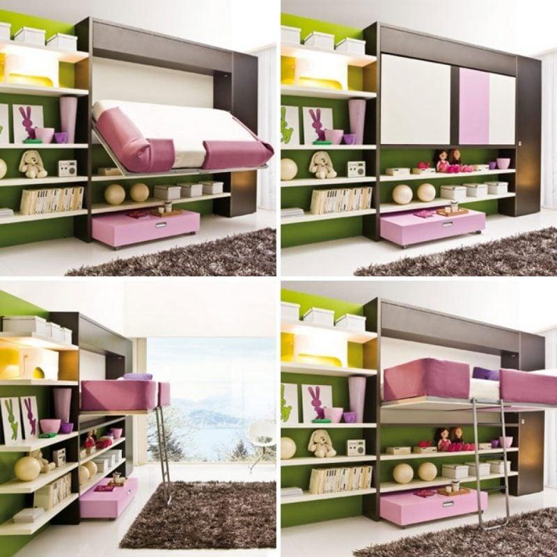 Wandbett Kinderzimmer Ideen
