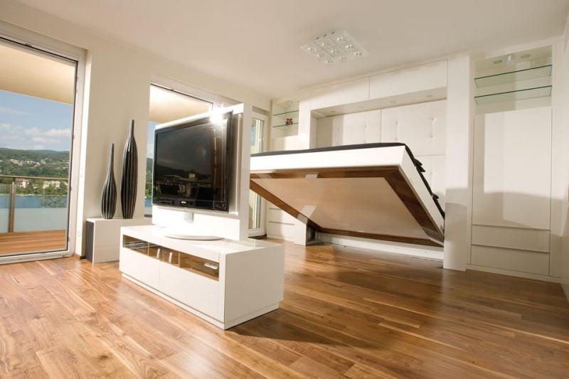 Wandbett Wohnzimmer
