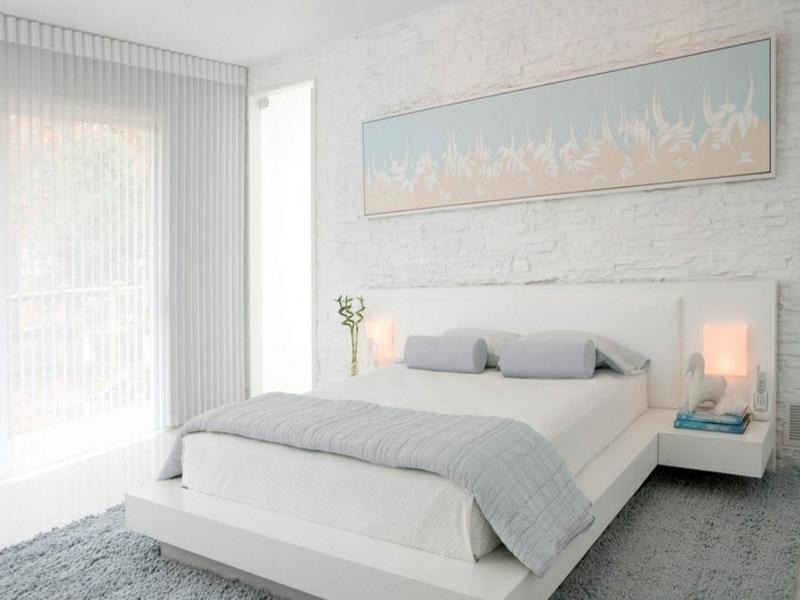 25 ideen f r wanddesign mit wei en ziegeln. Black Bedroom Furniture Sets. Home Design Ideas