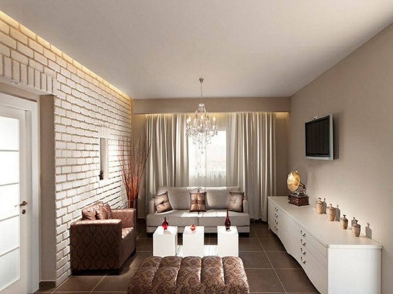 25 ideen f r wanddesign mit wei en ziegeln for Wanddesign wohnzimmer
