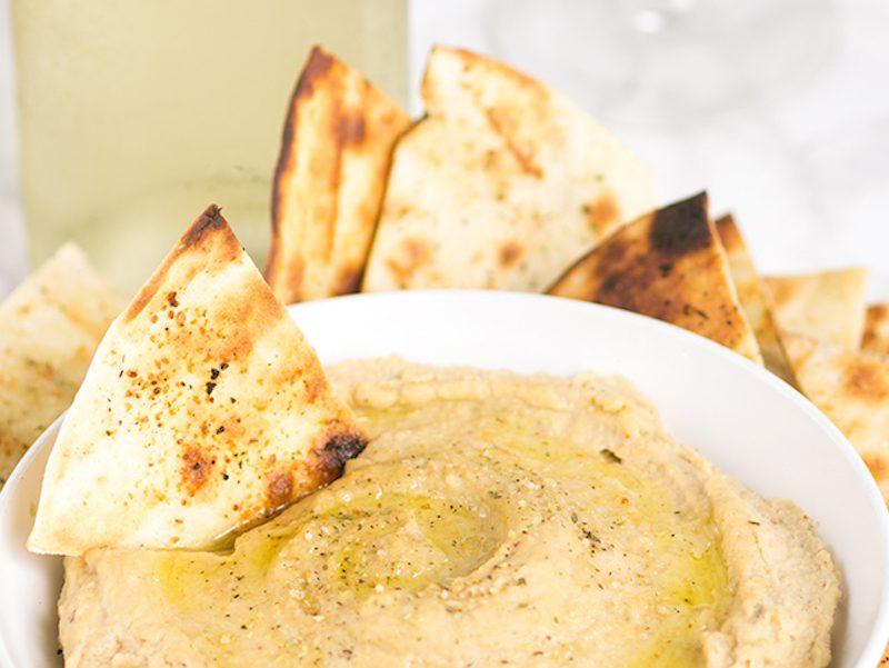 Was ist Humus mit Tortilla