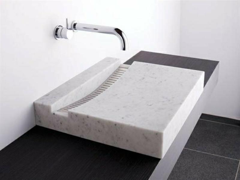neues minimalistisches waschbecken