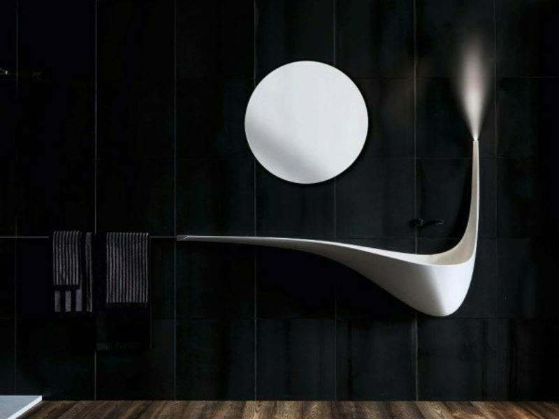 spiegel über dem waschbecken