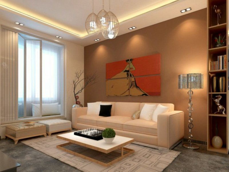 interessante wohnzimmereinrichtungen mit beleuchtungsgruppe
