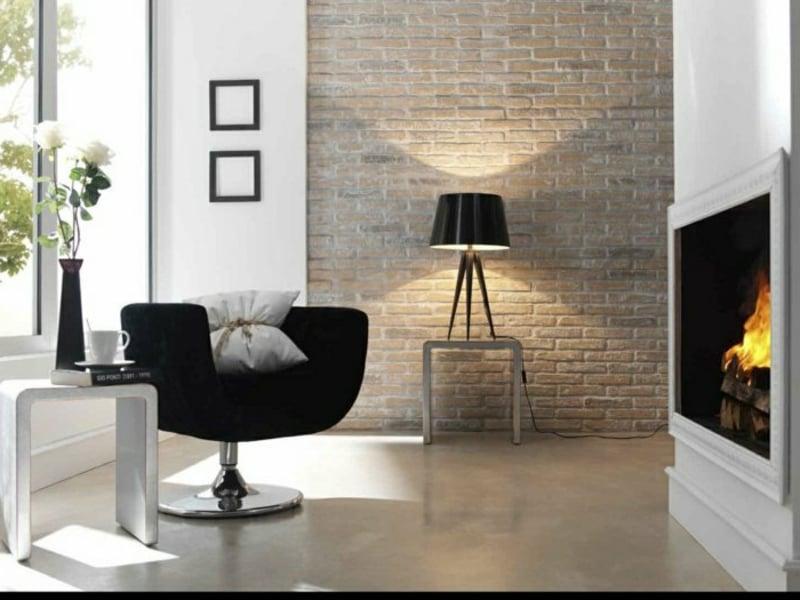 originellne tischlampe im wohnzimmer