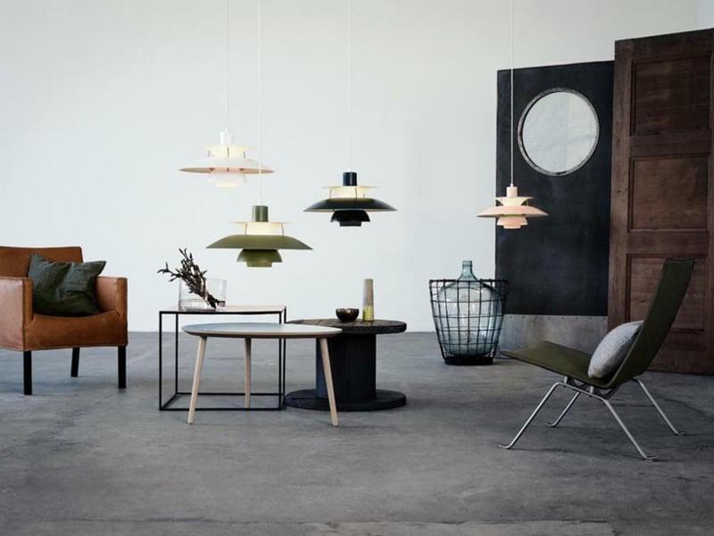 vier designer lampen