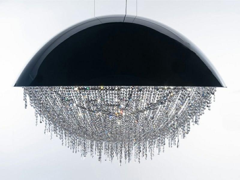 kristalllampe in den wohnzimmereinrichtungen