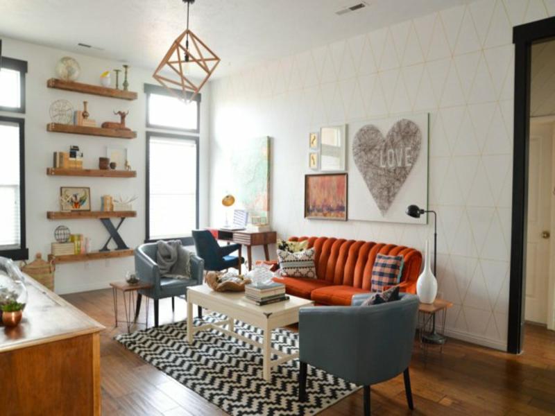 designer wohnzimmerteppic in weiß und schwarz