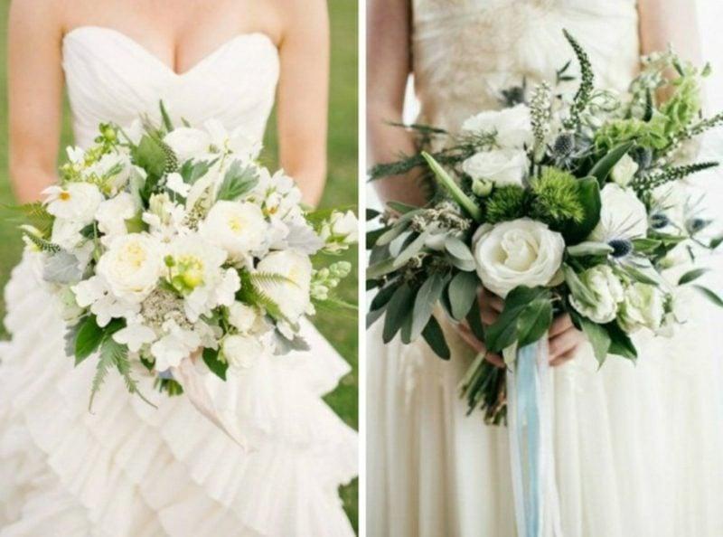 Blumenstrauß im Weiss kreative Ideen Hochzeit