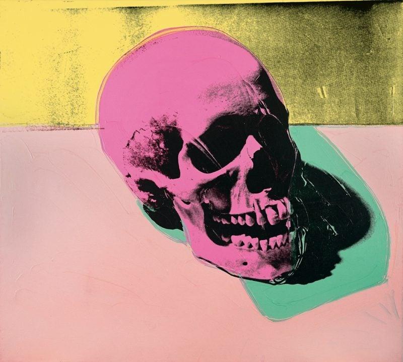 Andy Warhol Werke 1976 Totenschaedel