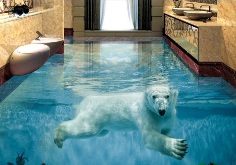 3D Fliesen Polar Bear