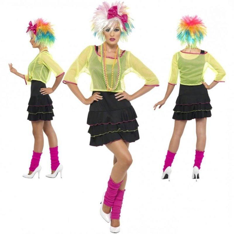 80er Kostüm mehrfarbig