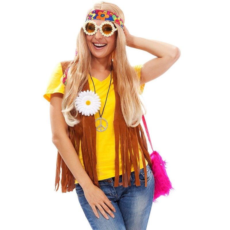80er Kostüm Hippie Frauen