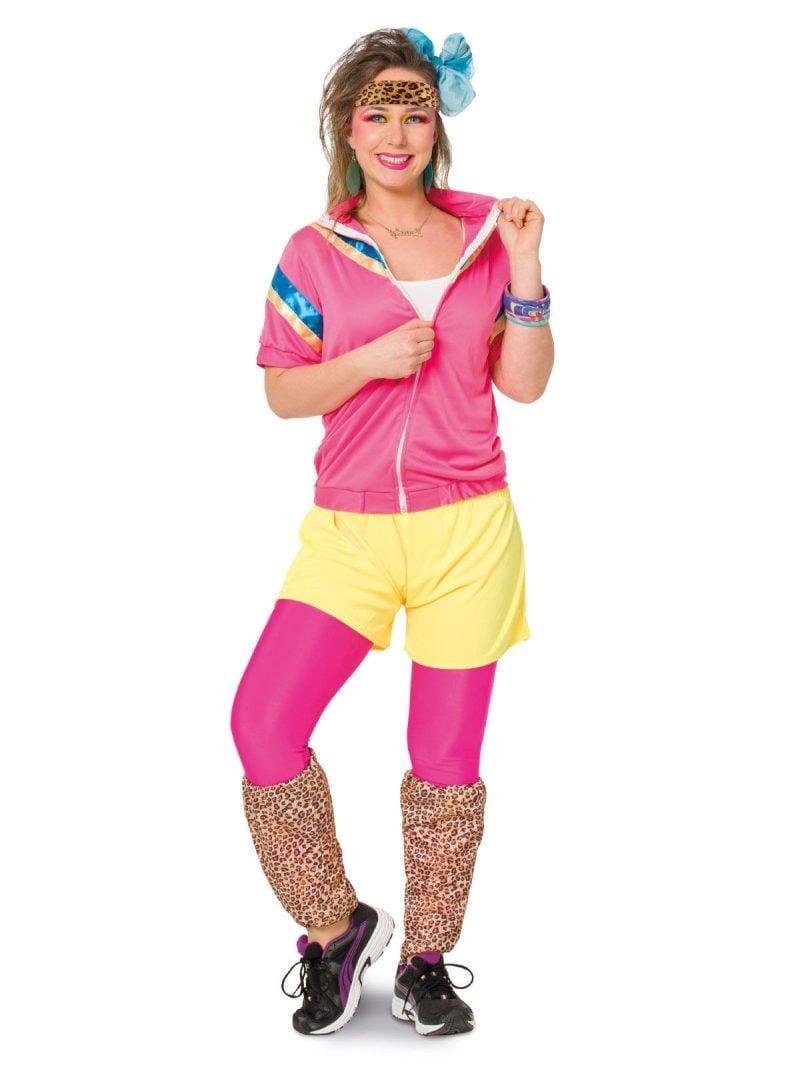 80er Kostüm Sport Outfit