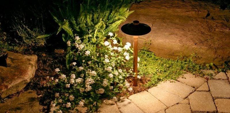 LED Gartenbeleuchtung als Akzent