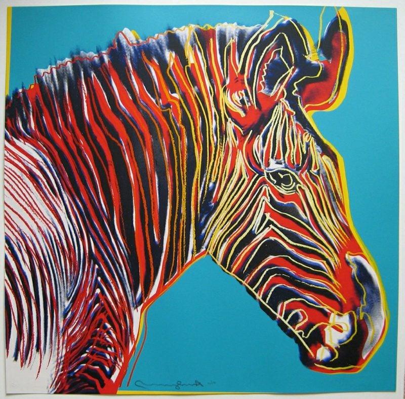 Andy Warhol Werke Zebra
