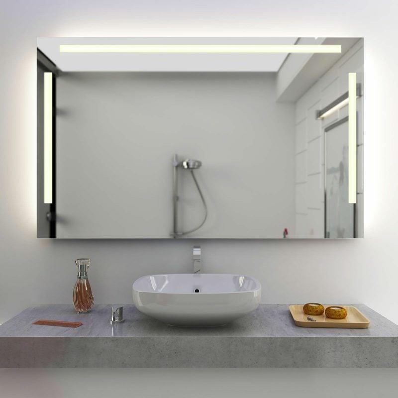 badspiegel mit licht affordable badspiegel mit licht with. Black Bedroom Furniture Sets. Home Design Ideas