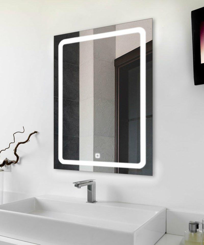 origineller beleuchteter Badspiegel