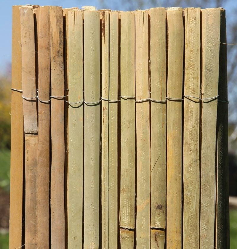 Bambuszaun Gartengestaltung