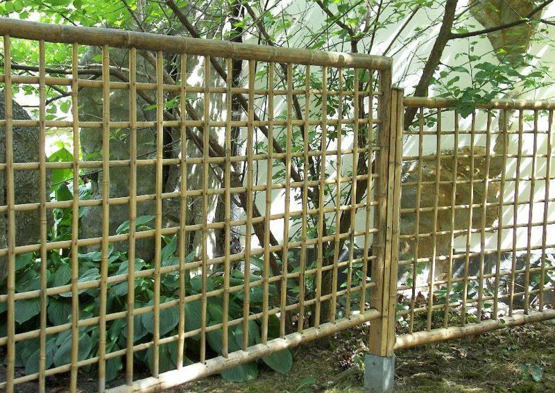 Gitterzaun aus Bambus Gartengestaltung