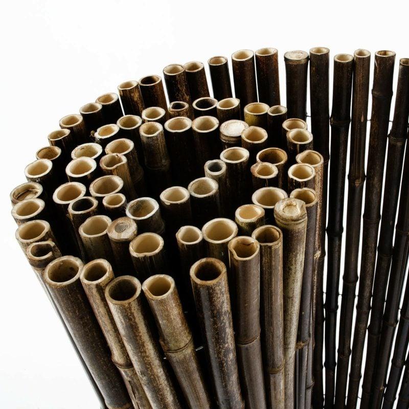 kreative Ideen Gartengestaltung Zaun aus Bambus