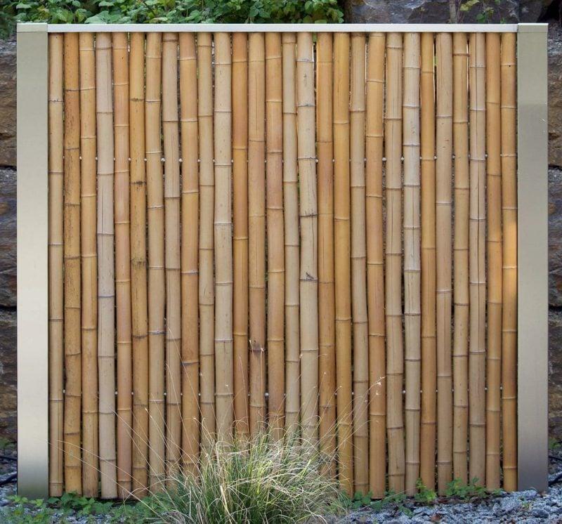 klassischer Bambuszaun