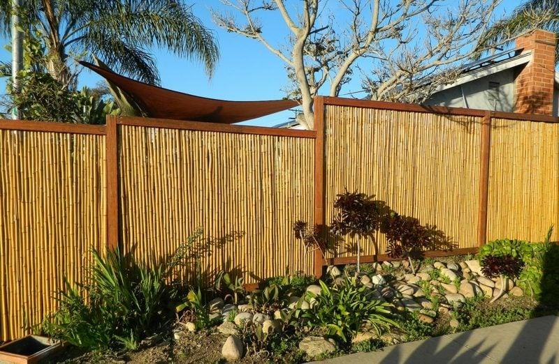 sichtschutz mit dekorativem bambuszaun 50 originelle ideen. Black Bedroom Furniture Sets. Home Design Ideas