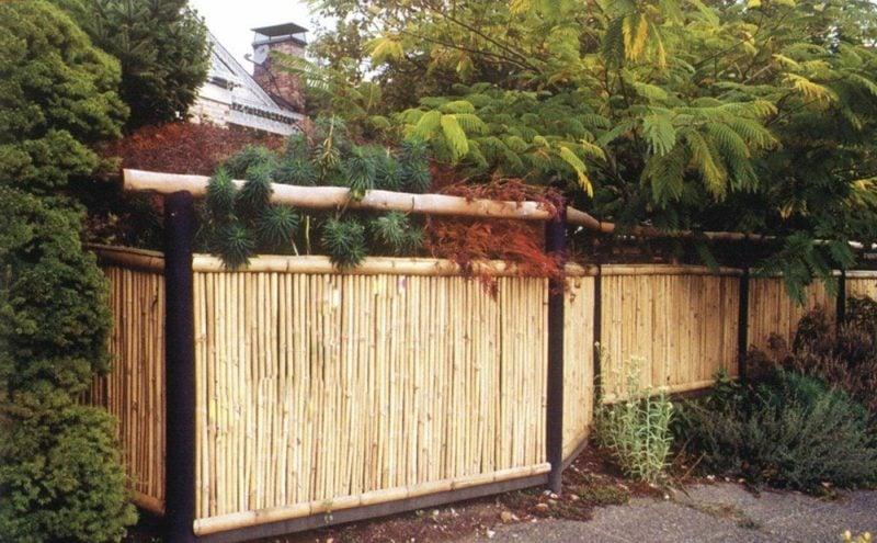 Gartendekorierung Bambuszaun