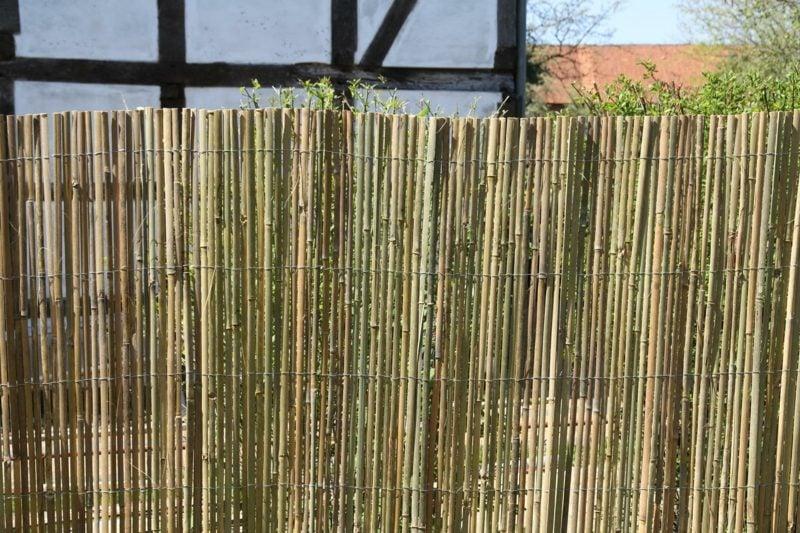dekorativer Bambuszaun