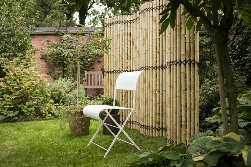 origineller Bambuszaun Gartengestaltung