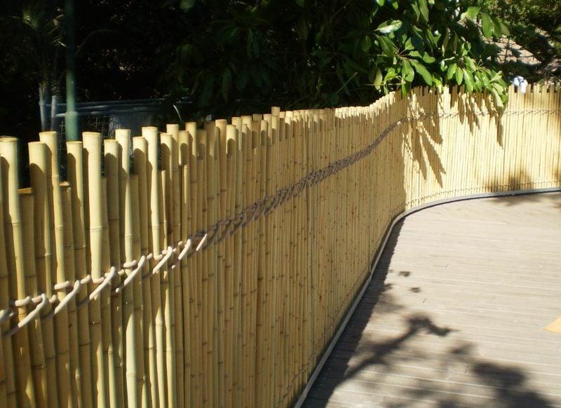 Zaun aus Bambus Gartengestaltung